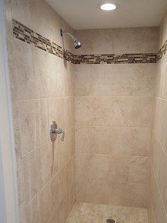 New Walk In Tile Shower in Private Master Bath