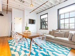 Williamsburg modern loft with a rooftop and gym