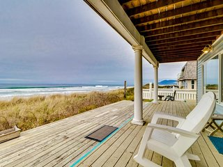 Dog-friendly, oceanfront rental just steps from the beach