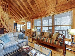 Dog-friendly cabin w/ furnished deck, private hot tub, & paved road access!