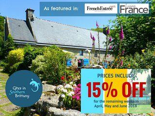 Le Crann hamlet - Two 16 C cottages perfect for large groups - Pool, Bikes, View