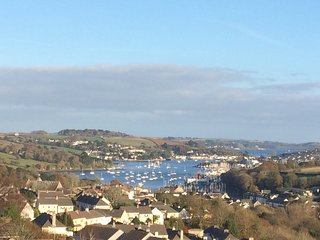 Wonderful sea views from Estuary View apartment in Penryn, nr Falmouth Cornwall.