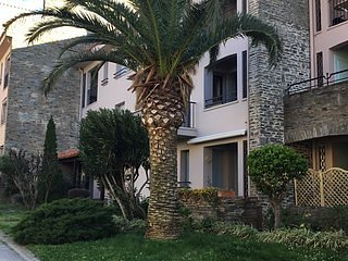 Charming Collioure apt with beach 5 mins away. Pool and secure parking.