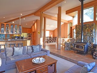 Open living space layout with a Tahoe cabin feel