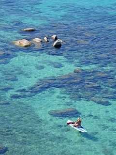In the summer, take a quick walk or drive down to Kings Beach for paddle boarding and more!