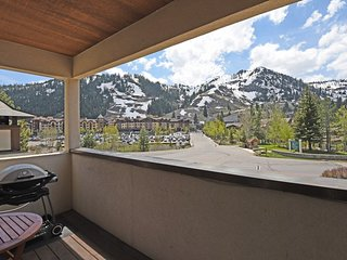 Take in amazing mountain views from the deck