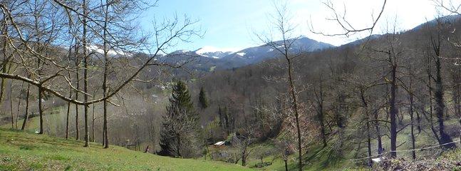 panorama vue du sauna