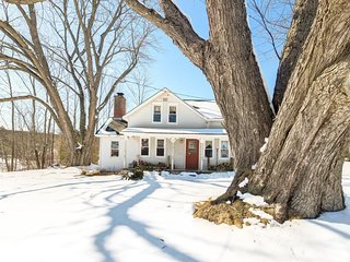 Cozy home in wooded seclusion - close to skiing, golf, and state parks!
