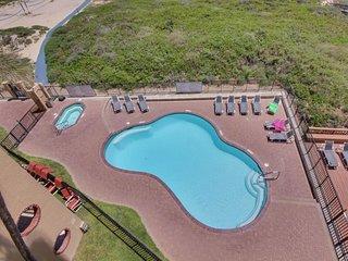 Oceanfront condo with beach access & views, shared pool, hot tub, & tennis