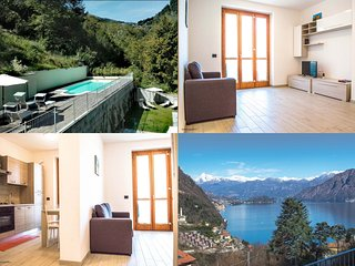 Lake Como, beautiful apartment A3 , amazing view in a residence with pool