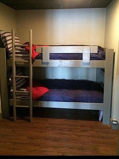 Basement bunk bed room