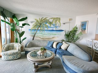 The  Pyramid...Beautiful ocean front 2 Bedroom Unit 1C on the Beach