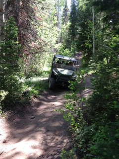 ATV from the cabin to the  mountains!