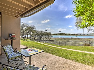 NEW! Cozy Waterfront Condo-Steps from Canyon Lake!