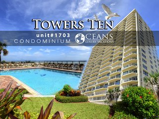 Dec Specials! Towers Ten Condo - Oceanfront - 3BR/3BA  #1703