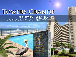 Feb Specials! Towers Grande Condo - Oceanfront 3BR/3BA #403