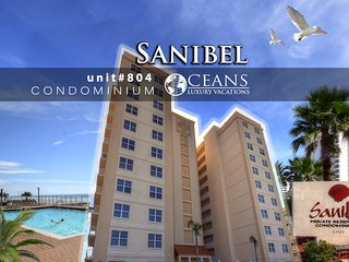 September Specials! Sanibel Condominium - Oceanfront - 3BR/3BA - #804