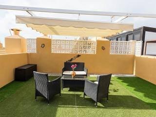 810 - Edificio Aguamarina. Sunny Private Roof Top Solarium. Sea & Mountain view., holiday rental in Golf del Sur