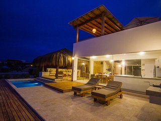 Great 2-story luxury oceanfront villa in Punta Sal. Best in the beach.