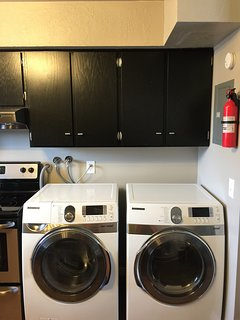 Samsung frontloading washer and dryer.
