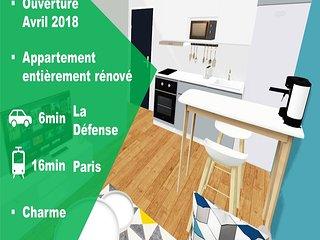 ★ Charmant/Beautifull APPARTEMENT ★ proche/near LA DEFENSE & PARIS
