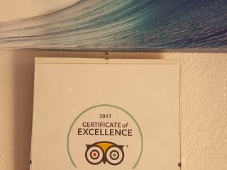 Tripadvisor Excellence Certificate.
