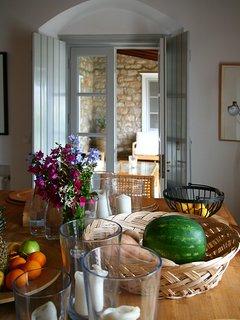 Breakfast table indoors