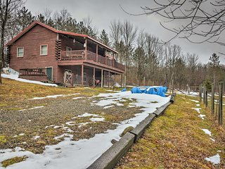 The home is nestled on 7.5 acres of land.
