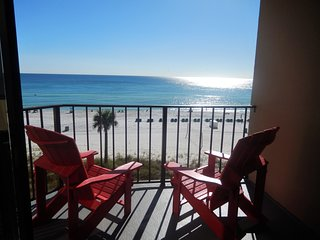 4th floor renovated beachfront condo w/ beach chair service, and secure wifi