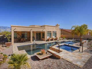 Semi-custom home w/ a private pool and hot tub, beautiful views!