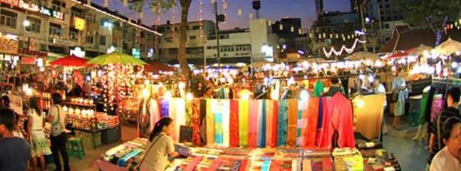 The popular Night Market, close to our house.