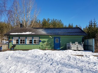 Front view of the cabin. Photo taken last Easter 2018. Yup! There was snow in April.