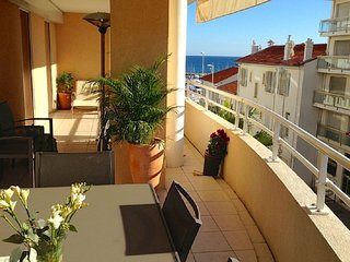 Spacious two bedroom apartment with large balcony near the beach, garage parking