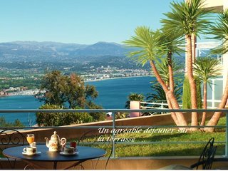 Meublé de tourisme, vue mer panoramique, prk, pisc