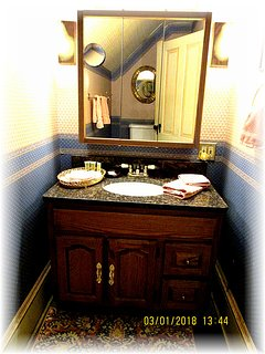 Quality Granite Vanity, Make Up Lighting, Soap, Shampoo And Hairdryer Provided