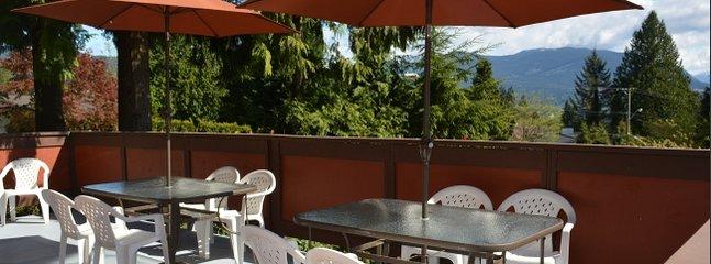 500 pies cuadrados cubierta balcón con un 7 pies de largo barbacoa de gas natural de Vermont