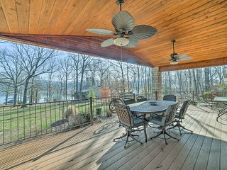 NEW! Lakefront Reeds Spring Home w/Deck & Fire Pit