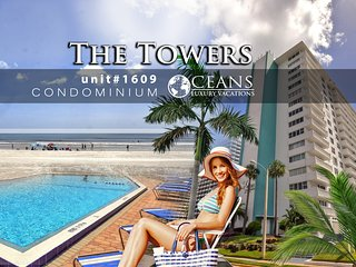 The Towers Condominium 1BR/1BA, Ocean View Unit#1609