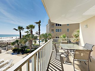 Beach Chic Gulf-Front 2BR w/ Pool, Hot Tub & Balcony - Steps to Private Beach