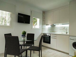 Salón con cocina incorporada