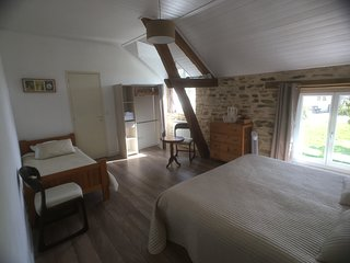 La Rame room 3, a beautiful B&B room for 3 in an old farm in de Dordogne.
