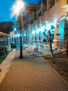Enjoy the outside seating area at the Tapas Restaurant and Bar.