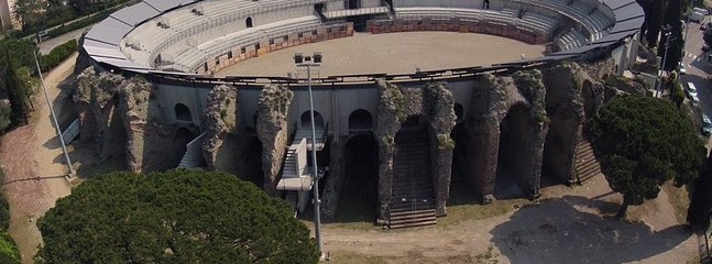 The old Frejus Ampitheater: hisoric outside, 12k capacity inside for events!