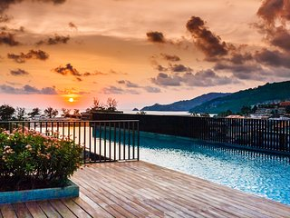 One bedroom apartment in The Deck condo, 2 pools, gym, walk to Patong beach. 124