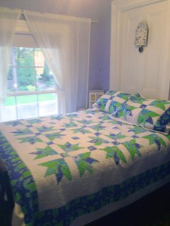 The Blue Room has a very comfy double bed and a desk and is cozy for 1 or 2 people.