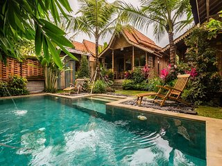 Peaceful Bije Villa w/private pool wooden villa close to ubud center