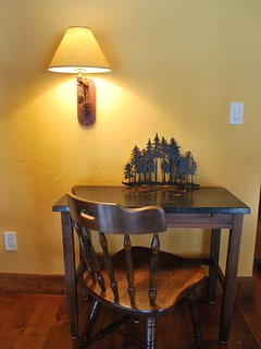 Writing Desk and Lamp on Upstairs Landing