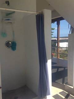 Additional outside shower