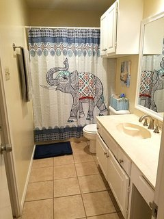 Roomy Full Bathroom with combination shower, tub