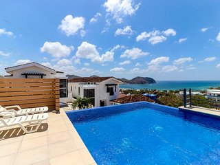 Hillside villa w/ private pool, terrace & amazing ocean view - 1/4 mile to beach